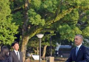 Barack Obama has become the first serving US president to visit Hiroshima since the World War Two nuclear attack. President Obama walks toward the cenotaph for the victims of the 1945 atomic bombing at Hiroshima Peace Memorial Park in Hiroshima.- India Tv