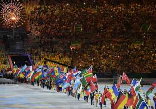 The 2016 edition of Olympic Games were declared closed by IOC chief Thomas Bach after a colourful closing ceremony at the iconic Maracana. In picture athletes parade during the closing ceremony of the Rio 2016 Oylmpic games.