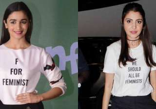 Like a tattoo, the slogan T-shirt has become the celebrity's weapon of choice in order to make a statement without saying a word. And lately, our B-town celebrities are flaunting their slogan t-shirts in style.