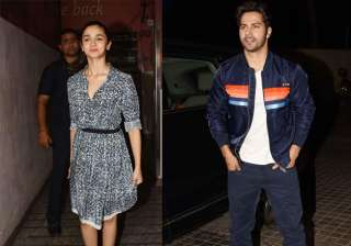 'Badrinath Ki Dulhania' featuring actors Varun Dhawan and Alia Bhatt, has hit the cinemas today. The special screening of the movie was held in Juhu in Mumbai and celebrities were spotted keeping their stylish foot forward. Here are some B-town stars who graced the screening of the film.