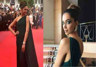 Actress Deepika Padukone managed to impress fashion police with her first look at the red carpet of Cannes Film Festival. She continued to charm people on her second day. The actress donned thigh-high slit green gown and raised the temperature of the event.