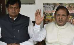 File pic - Ali Anwar and Sharad Yadav