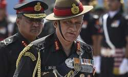 File pic of General Bipin Rawat