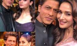 Shah Rukh Khan with Alia Bhatt, Madhuri Dixit and Kareena