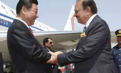 File pic - Xi Jinping and Mamnoon Hussain