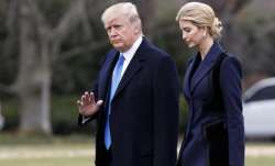 President Donald Trump, accompanied by his daughter Ivanka. AP photo