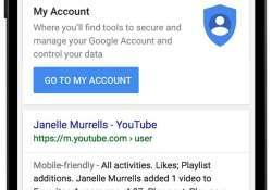 "Google's ""My Account"" mobile search"