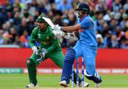 Dhawan plays a shot during ICC Champions Trophy against