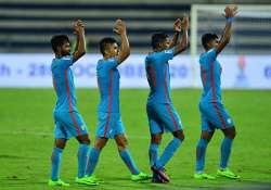 Indian team players along with their captain Sunil Chhetri- India Tv