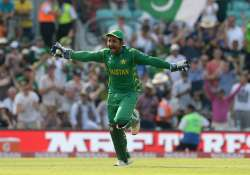 Sarfraz Ahmed of Pakistan celebrates after the final