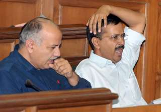File pic of Manish Sisodia and Arvind Kejriwal -...