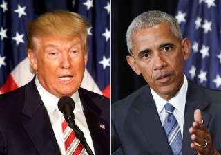 File pic of Donald Trump and Barack Obama - India...
