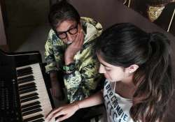 amitabh bachchan surprised with granddaughter s musical