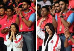 aishwarya in full support of husband in pro kabaddi league