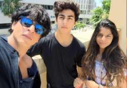 superstar shah rukh khan shares selfie with kids