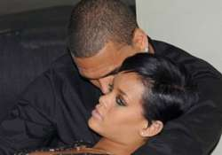 brown spends more time with rihanna