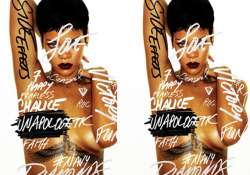 rihanna goes topless for album cover