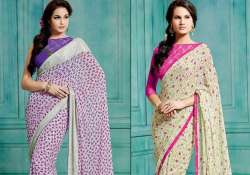 look slim with small print saris