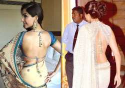 sonam kapoor s oh so sexy blouse designs see pics