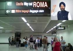 dsgpc chief manjit singh asked to remove turban at rome