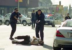 gunman goes on shooting spree in hollywood later shot by