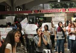 continued protests in mexico over missing students