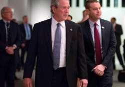 bush makes surprise visit to sept. 11 museum in nyc