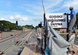 sri lanka restores railway to tamil heartland after 24 years