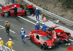 2.5 million japan highway accident 8 ferraris 3 mercedes a