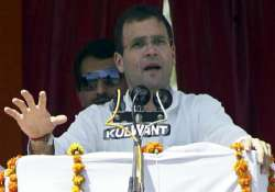 bjp brought khanduri to cover up scams says rahul