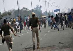 curfew continues in tanda bjp chief denied entry in town