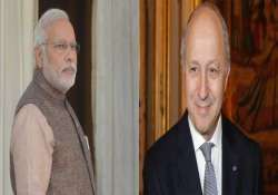 french foreign minister to meet modi sushma on coming sunday
