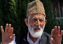 geelani rejects lambah s suggestions