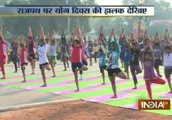 thousands participate in rehearsal for yoga day at rajpath