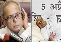 pranab makes fresh appeal to hazare to end fast