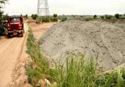 team inspects sand mining sites in noida