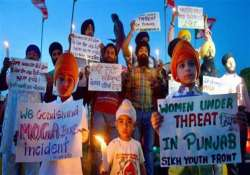 moga bus incident unions hold protest across punjab