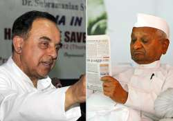 subramanian swamy says anna hazare was fooled by team anna
