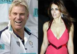 shane warne linked with elizabeth hurley