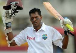 wi vs ban chanderpaul hits century for wi against bangladesh