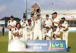 yorkshire wins english county championship