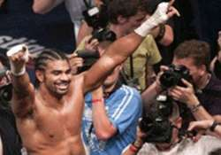 david haye of britain is world heavyweight boxing champion