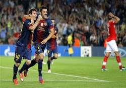 barcelona beats spartak 3 2 in champions league