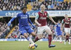 epl leader chelsea held 1 1 by burnley after matic sent off