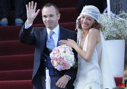 iniesta caps euro 2012 winning week with wedding