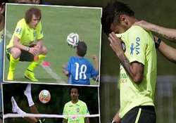 when neymar cried after being overwhelmed by young disabled