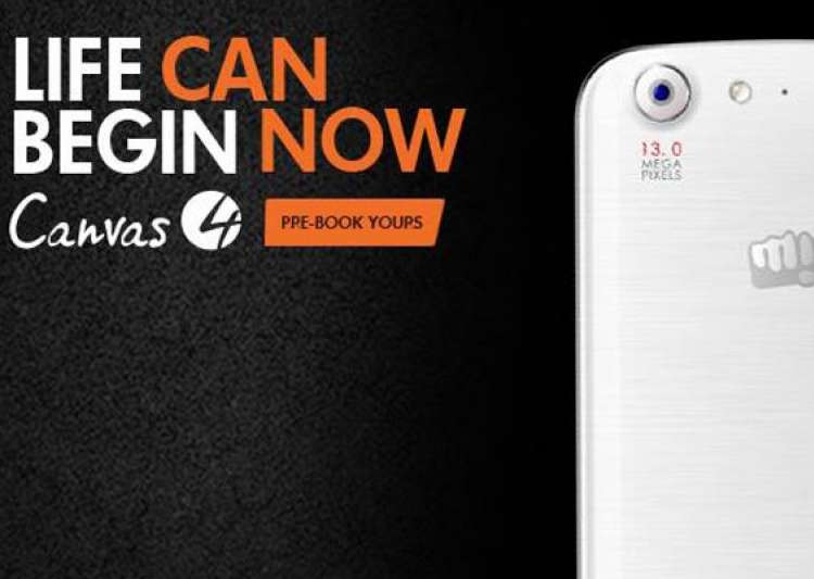micromax canvas 4 pre booking begins in india specifications price to be revealed on july 8- India Tv