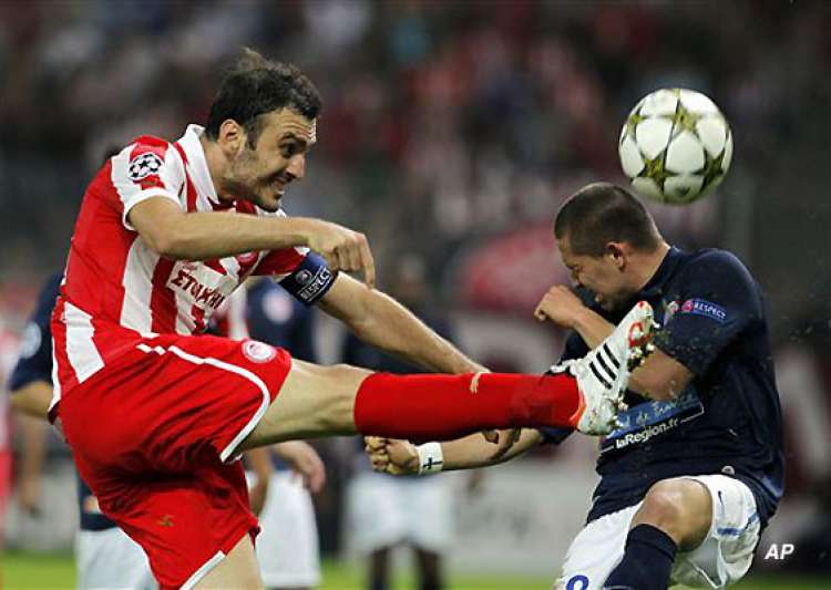 champions league olympiakos beats montpellier 3 1- India Tv