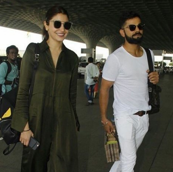 Here comes the most awaited duo, Virat and Anushka.