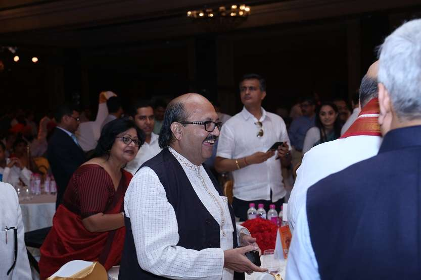 Former SP leader Amar Singh was also present at India TV Samvaad